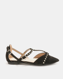 Utopia Pyramid Pointy Pumps Black