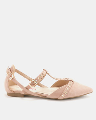 Utopia Pyramid Pointy Pumps Dirty Pink