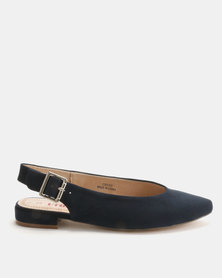 Utopia Slingback Pointy Pumps Navy