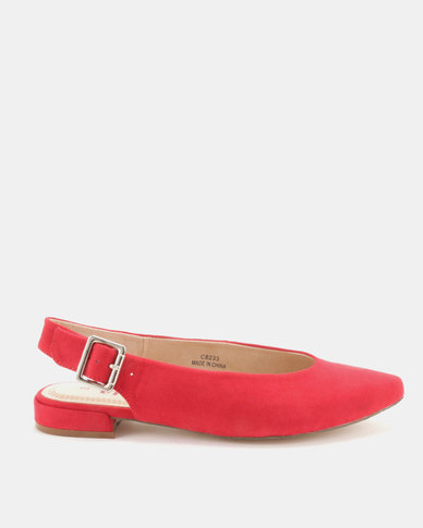 Utopia Slingback Pointy Pumps Red