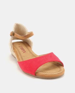 71b88db889c Utopia Low Wedge Espadrille Sandals Red