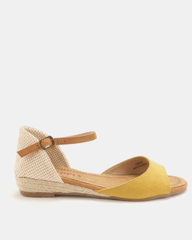 07b9732316c Utopia Low Wedge Espadrille Sandals Yellow
