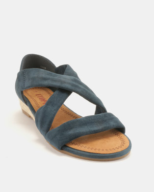 5d884f3ee73 Utopia Low Wedge Cross Strap Sandals Navy