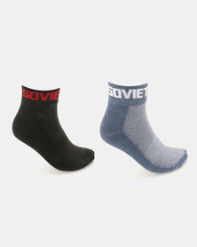 Soviet Detroit 2 Pack Low Cut Socks Multi