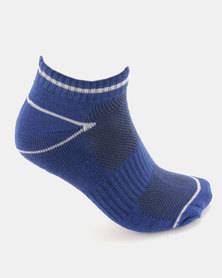 Soviet Earthquake 2 Pack Low Cut Socks Black & Royal