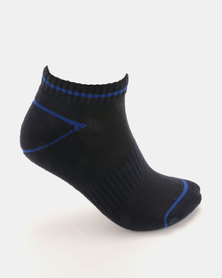 Soviet Earthquake 2 Pack Low Cut Socks Navy/White