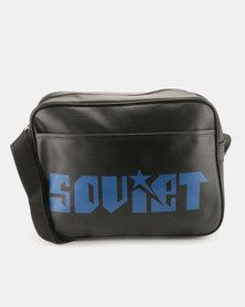 Soviet Newcastle PU Messenger Bag Black/Midnight