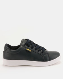 Soviet Kimberly Low Cut Pu Lace Up Sneakers Navy
