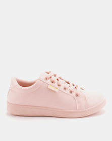 Soviet Kimberly Low Cut Pu Lace up Sneakers Blush Mono