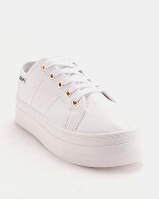 wholesale dealer 92900 57a50 Zando. Soviet Simmons Ladies Canvas Lace Up Platforms White