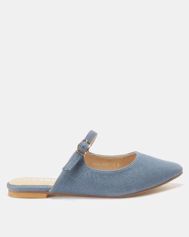 Utopia Mary Jane Flat Mules Blue