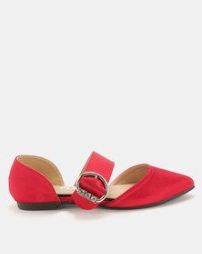 Utopia Mary Jane Pumps Red