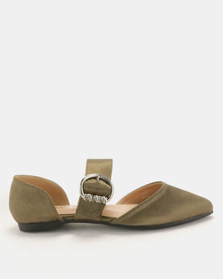 Utopia Mary Jane Pumps Olive