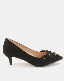 Utopia Flower Trim Kitten Courts Black