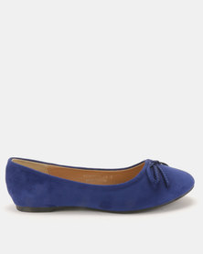 Utopia Bow Trim Pumps Blue