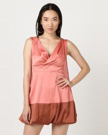 Utopia Colourblock Flare Dress Multi