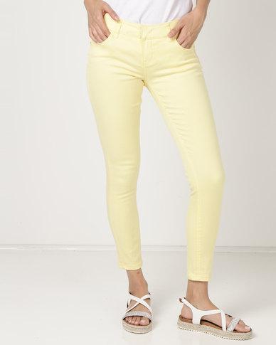 Utopia Lemon Skinny Jeans Yellow