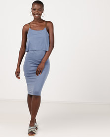Utopia Airforce Strappy Knit Dress Blue