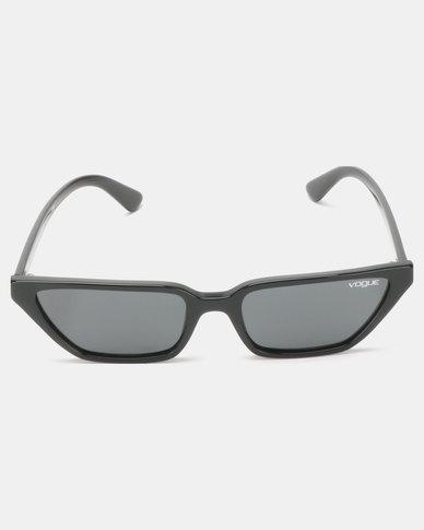 Vogue Gigi Hadid Cat Eye Sunglasses Black