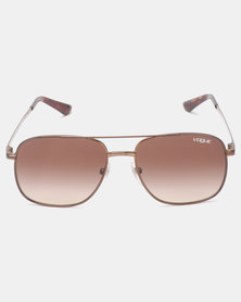 Vogue Gigi Hadid Aviator Sunglasses Havana