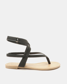 Call It Spring Husien Flat Sandals Black