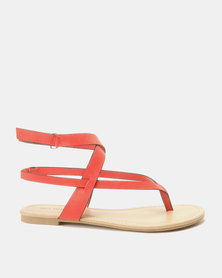 Call It Spring Husien Flat Sandals Red