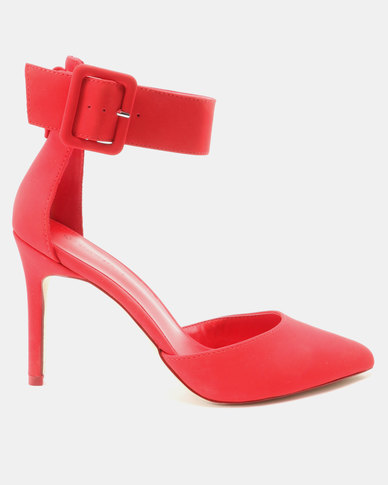 9626bceb5fc Call It Spring Zarya Ankle Strap Heels Red