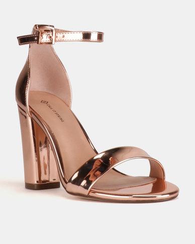 04e9eca0df0 Call It Spring Loreg Ankle Strap Block Heels Rose Gold
