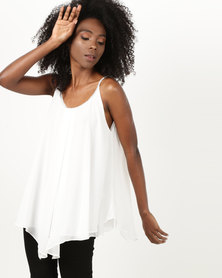Utopia Tunic With Diamante Trim Milk
