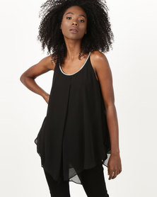 Utopia Tunic With Diamante Trim Black