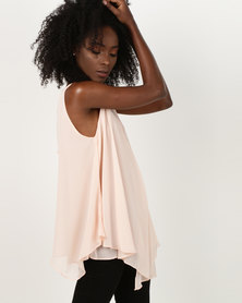 Utopia Tunic With Diamante Trim Pink