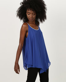 Utopia Tunic With Diamante Trim Cobalt