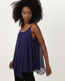 Utopia Tunic With Diamante Trim Navy
