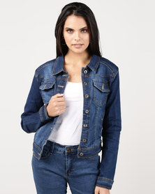 Utopia Denim Trucker Jacket Mid Blue