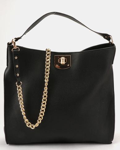 New Look Adrianna Hobo Bag Black