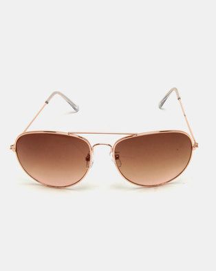 New Look Li Pilot Sunglasses Gold-tone