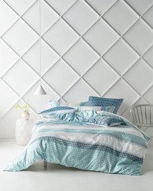 Linen House Queen Renado Duvet Cover Set Blue