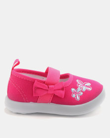 Bubblegummers Infants Closed Shoes Denim/Fuchsia/Pink