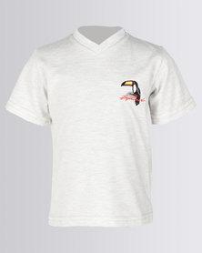 Rip Curl Toucan V-Neck T-Shirt Oatmeal