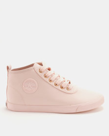 Soviet Callista Mid Cut PU Light Sneakers Pink Mono