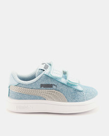 Puma Girls Smash v2 Glitz Glam I Sneakers Blue