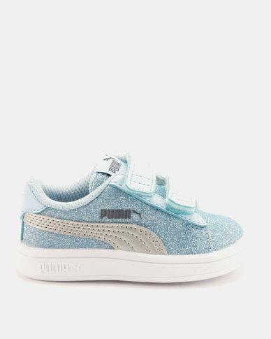 08c84cea329 Puma Girls Smash v2 Glitz Glam I Sneakers Blue