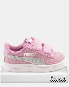 Puma Girls Smash v2 Glitz Glam I Sneakers Pink
