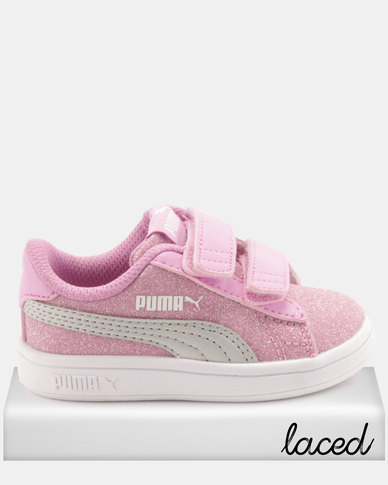 Puma Girls Smash v2 Glitz Glam I Sneakers Pink