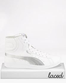Puma Girls Vikky Mid SL JR Sneakers White