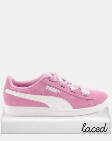 Puma Girls Vikky Ribbon JR Sneakers Pink