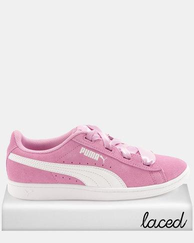 62e33e81bed6fa Puma Girls Vikky Ribbon JR Sneakers Pink