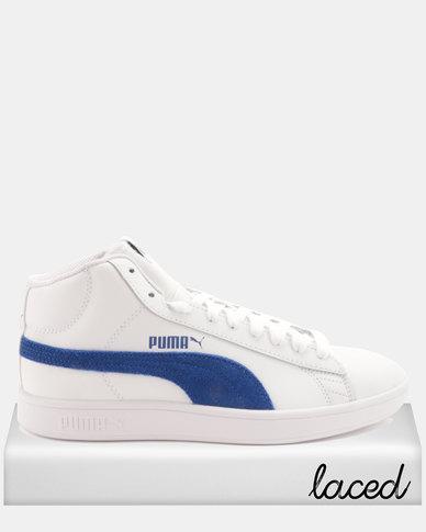 acd8993ff99c Puma Smash V2 Mid L Sneakers White Sodalite   Zando