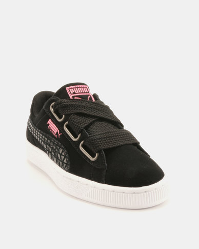 watch 64ab2 c9e21 Puma Sportstyle Prime Suede Heart Street 2 Sneakers Black