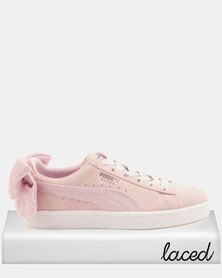 Puma Sportstyle Prime Suede Bow Uprising Sneakers Winsome Orchid-P